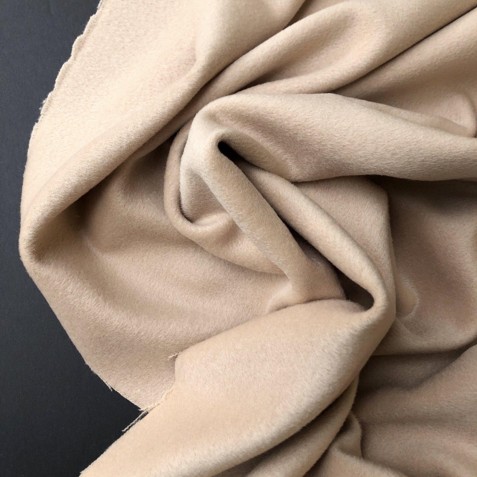Designer Deadstock Wool/Nylon/Cashmere Brushed Coating - Ecru