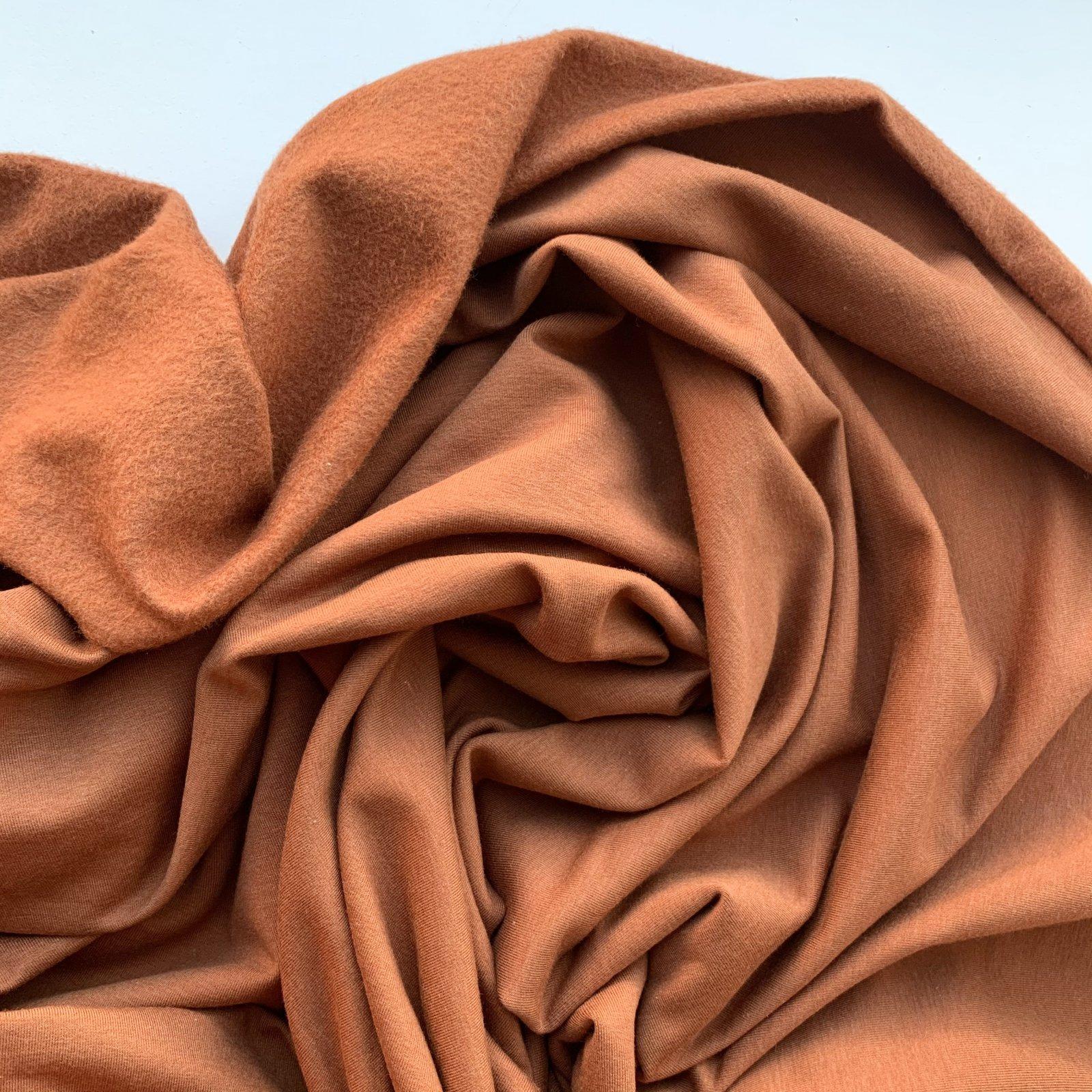 Oeko Tex Certified Bamboo Cotton Stretch Sweatshirt Fleece - Rust 60