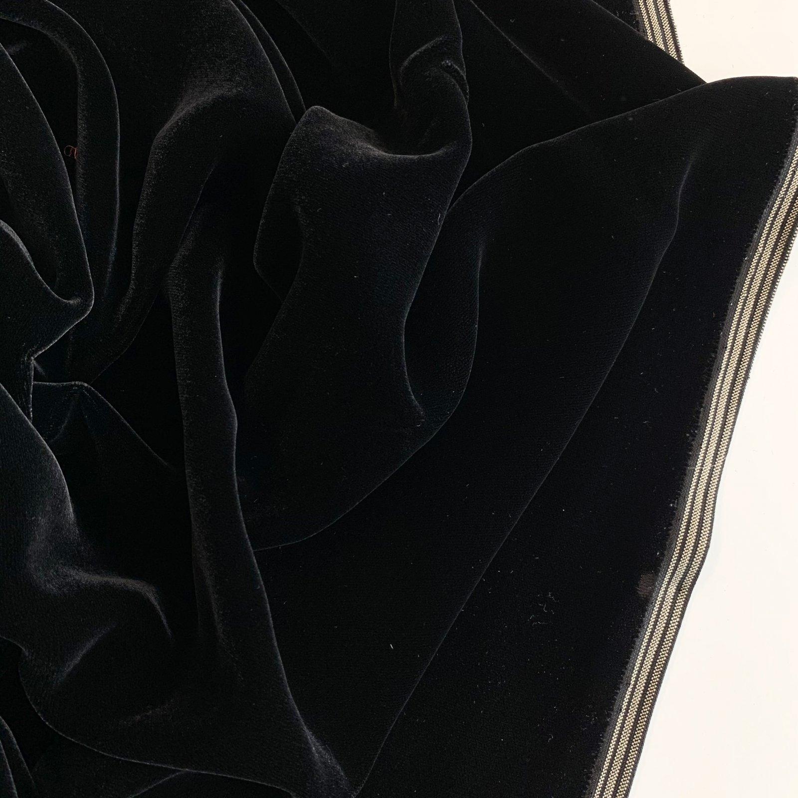 Designer Deadstock Viscose Velvet 60 - Black