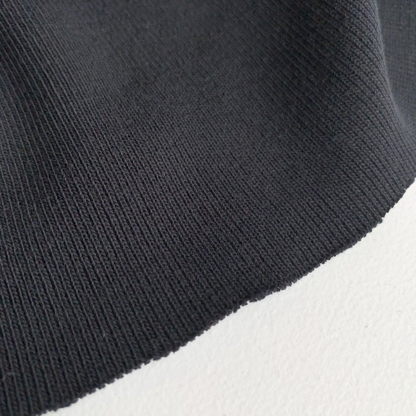 Oeko Tex Certified Cotton Ribbing 1x1 - Black 59