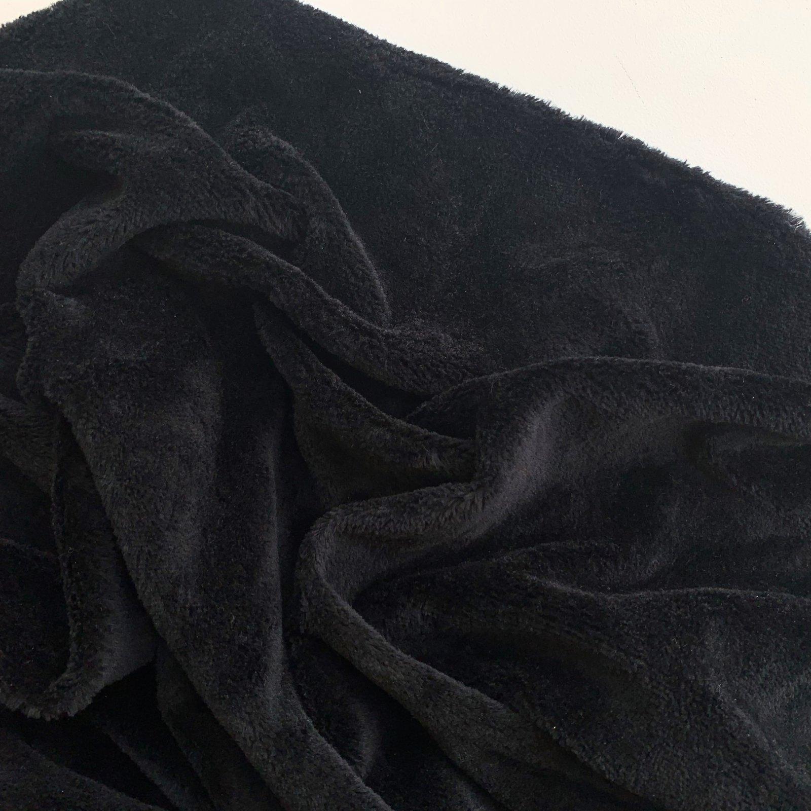 Deadstock Hemp & Organic Cotton Fur 12oz 59 - Black