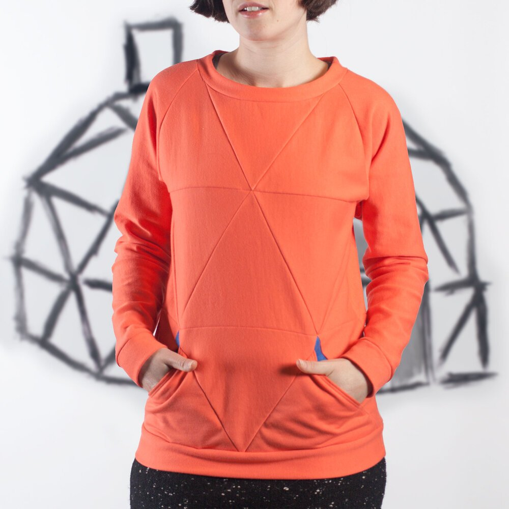 Blueprints For Sewing Geodesic Sweatshirt Pattern