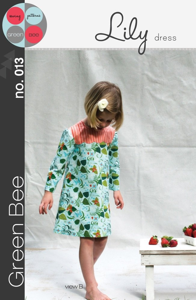 Green Bee Patterns Lily Dress