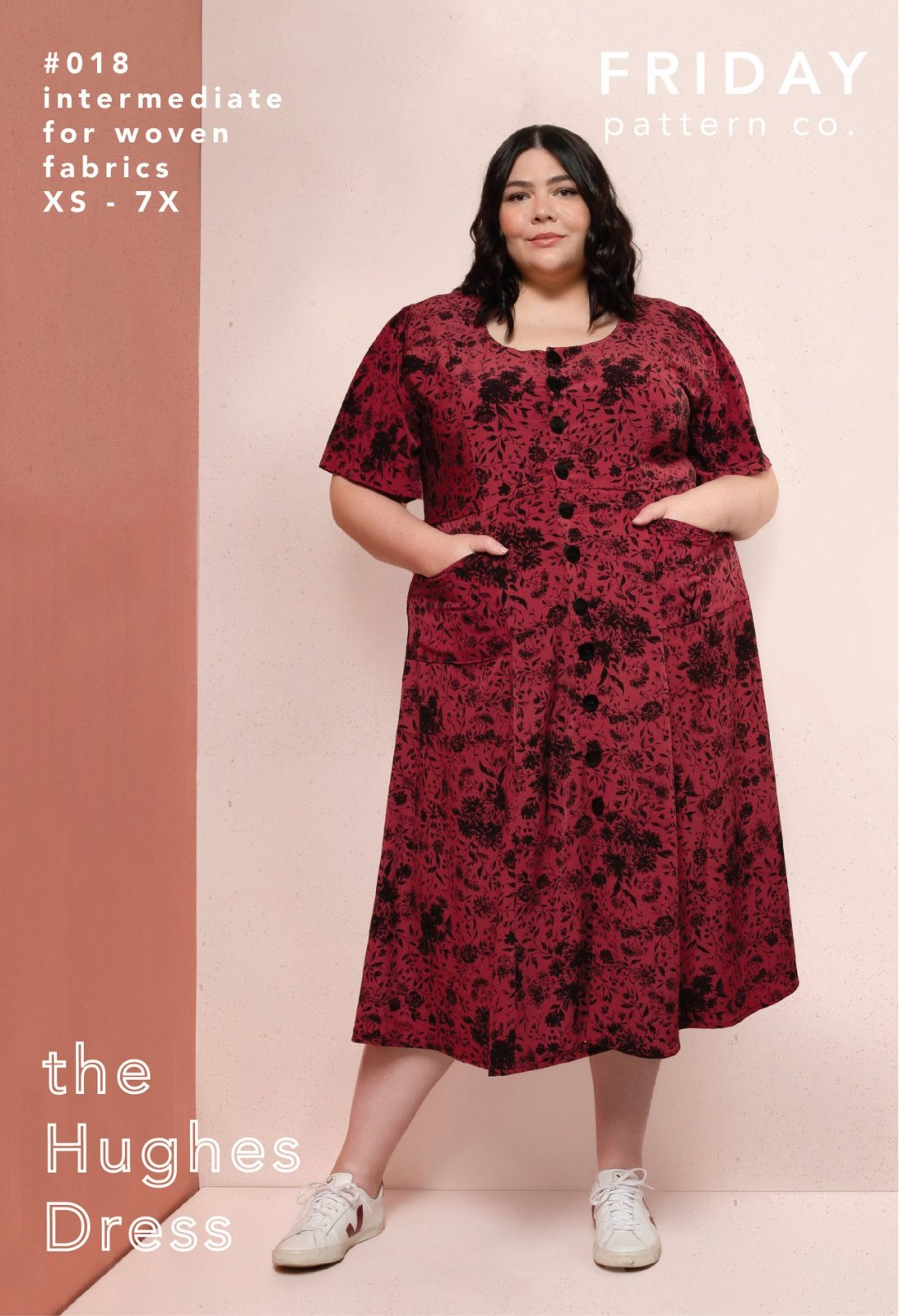 Friday Pattern Co. The Hughes Dress Pattern - NEW! Sizes XS-7X (And Bust Sizes Options)