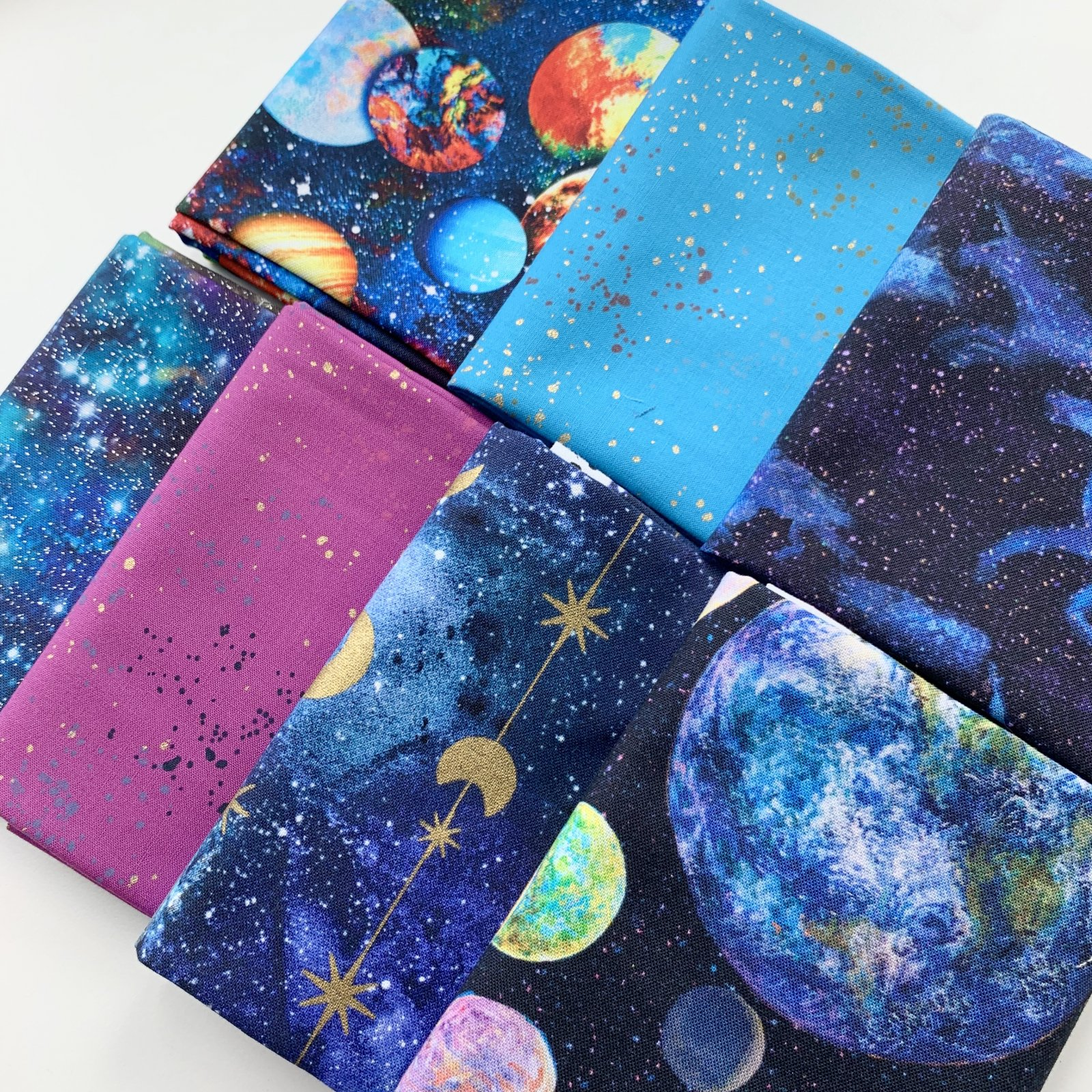 FQ Bundle - From Outer Space! - 7 Quilting Cotton Fat Quarters