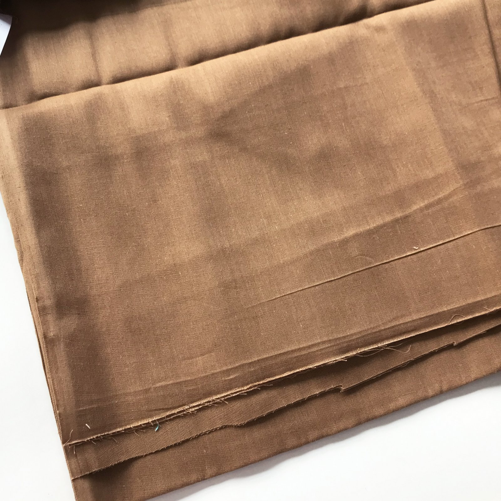 Remnant - Sheer Cotton Brown - 1 3/4 yd