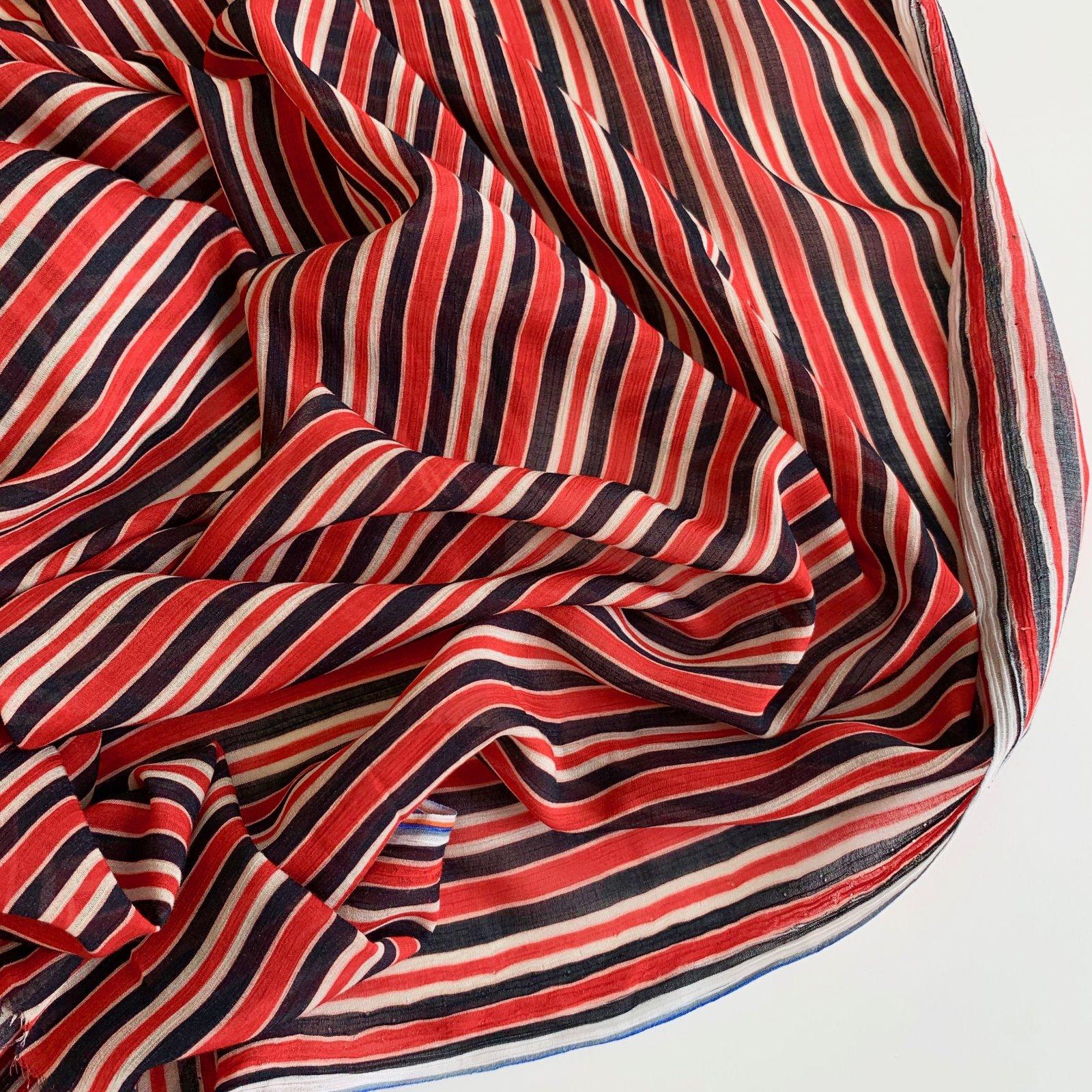 Designer Deadstock Italian Crinkled Sheer Silk Chiffon 50