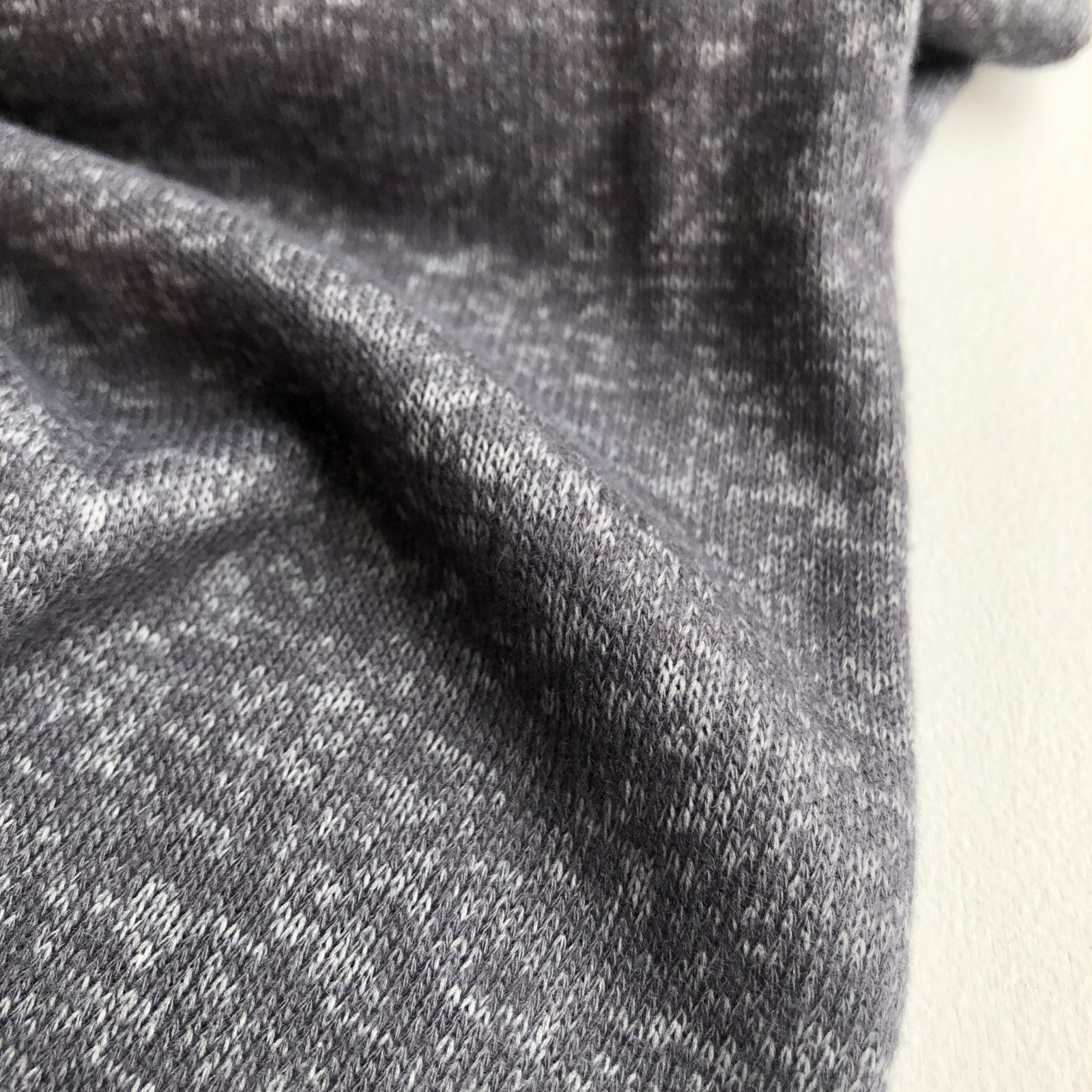 Vera Wang Deadstock Brushed Sweater Knit - Heathered Pewter Gray 58