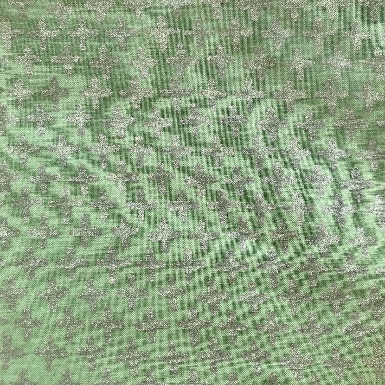 Remnant - Monaluna Organic Green Shimmer Poplin - 3yd