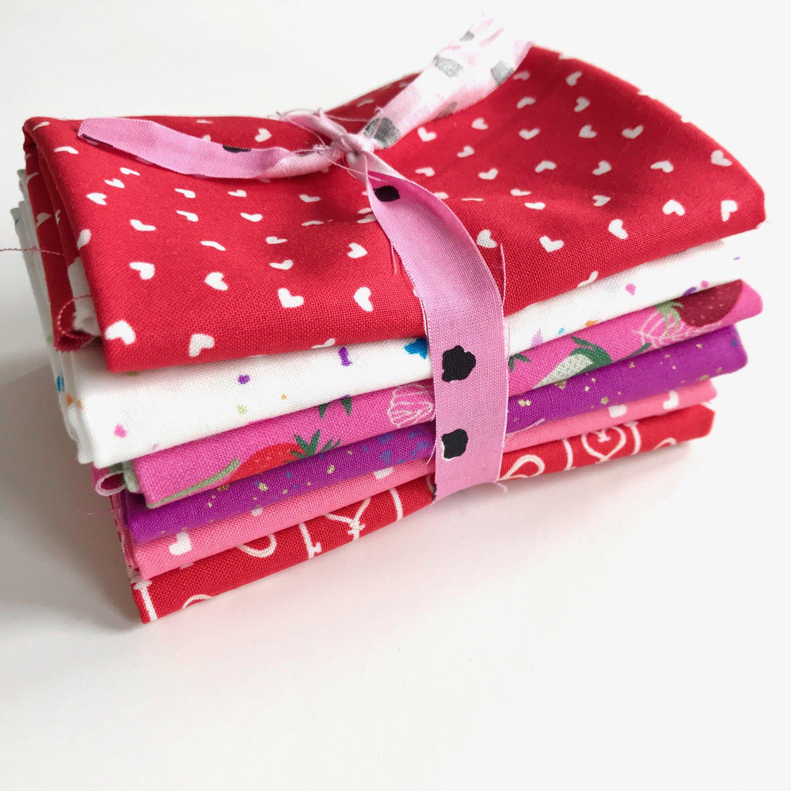 FQ Bundle - Sweethearts - 6 Quilting Cotton Fat Quarters