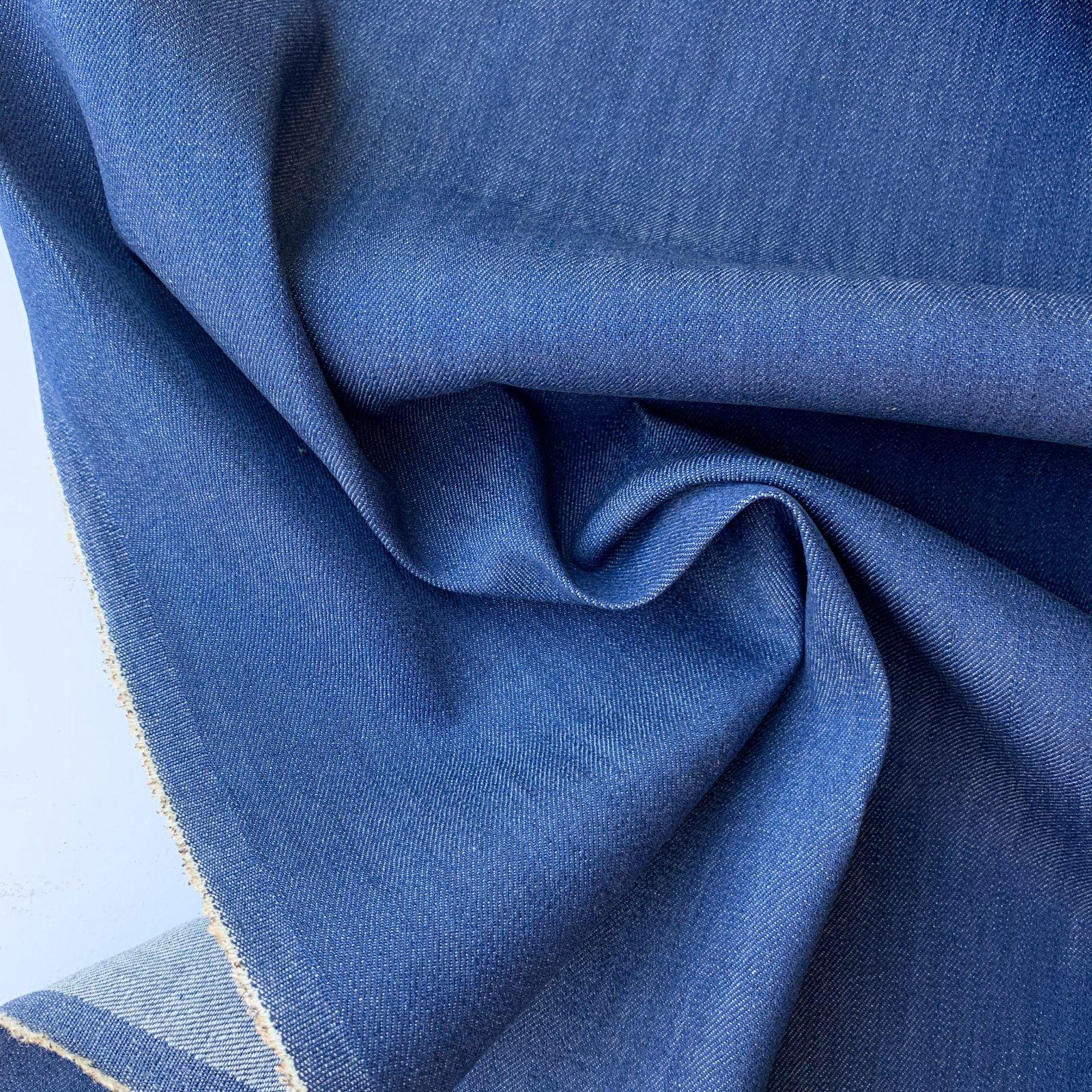 Designer Deadstock Midweight Denim - Vintage Blue 54