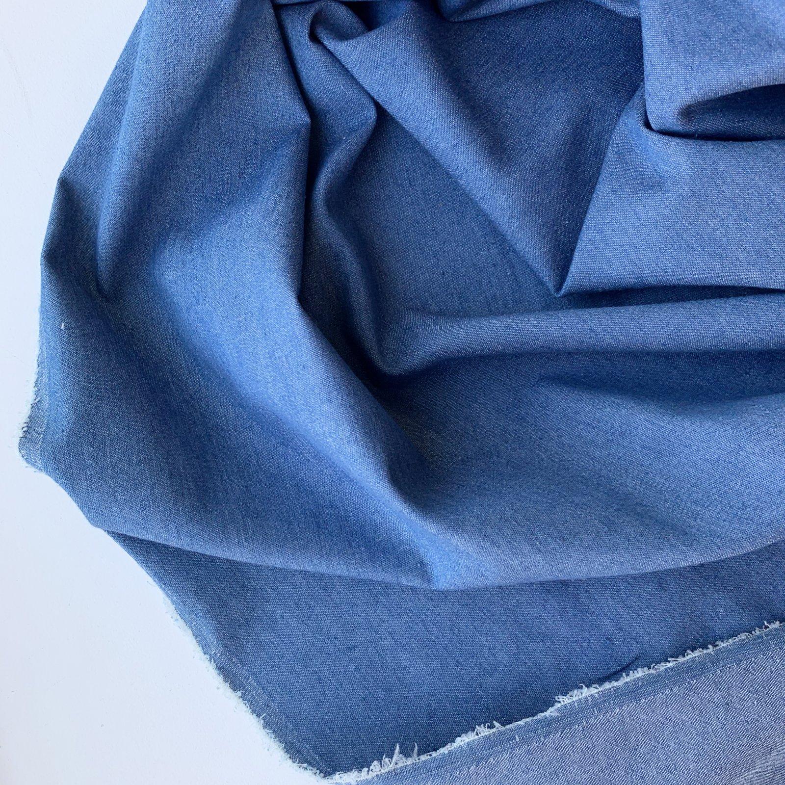 Designer Deadstock Lighweight Denim - Mid Blue 56