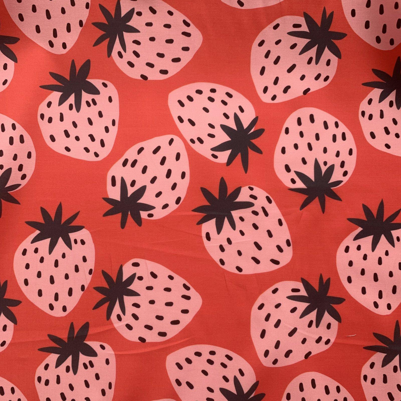 REMNANT Jennifer Bouron Strawberries Mid-Weight Cotton 59 - 3/4 yard