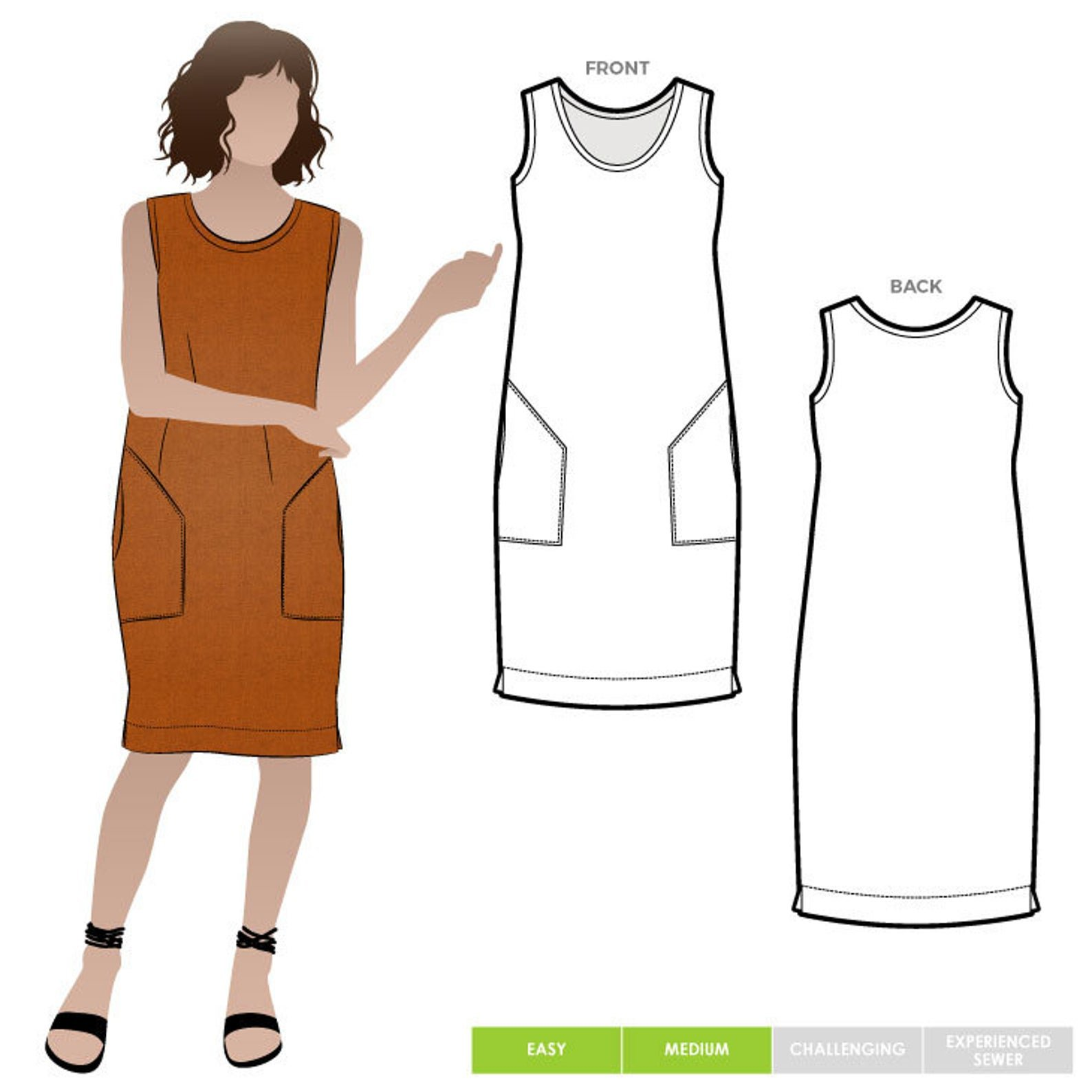 Style Arc Iris Dress Pattern