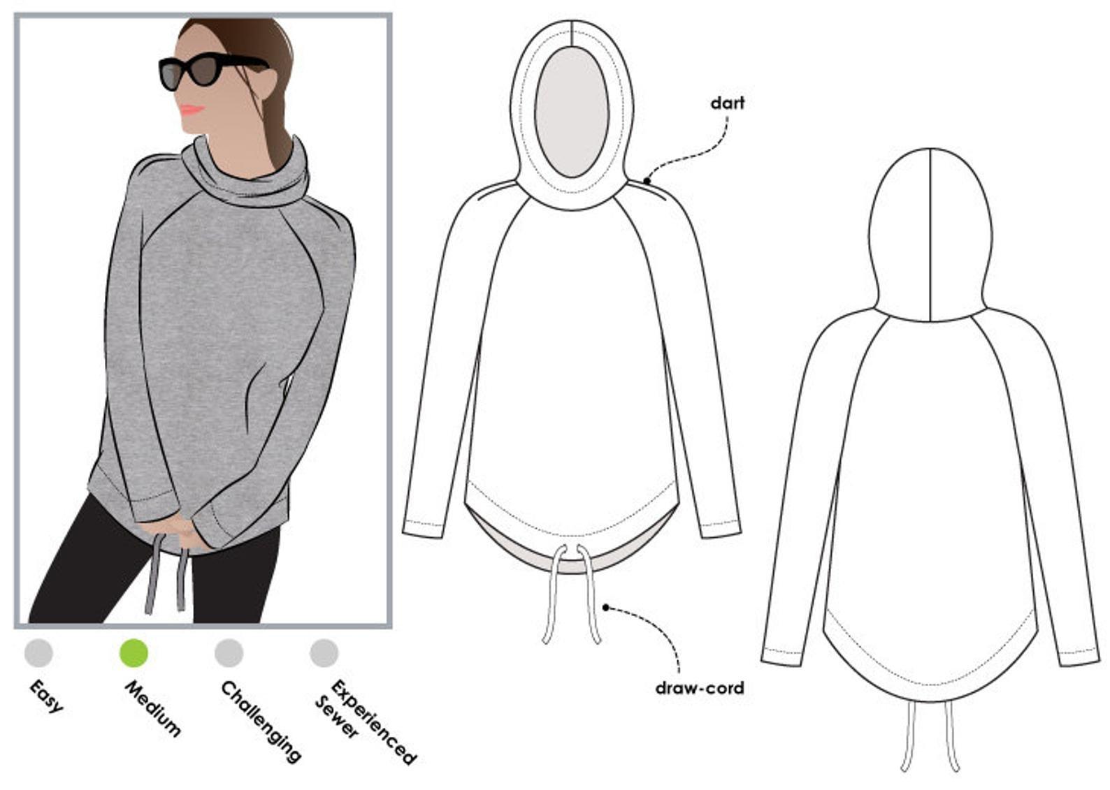 Style Arc Josie Hoodie Pattern