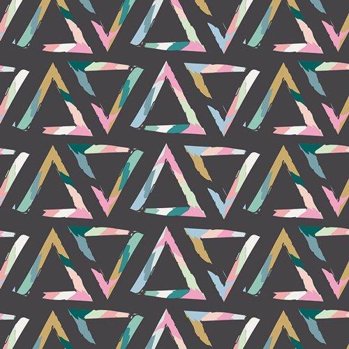 Art Gallery Fabrics Stretch Jersey - Triangle Brush Tempera 58