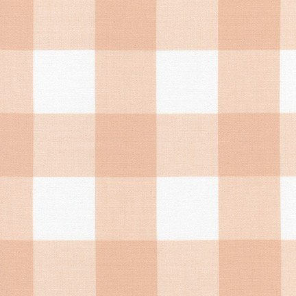 Kitchen Window Wovens Gingham - Peachy Pink