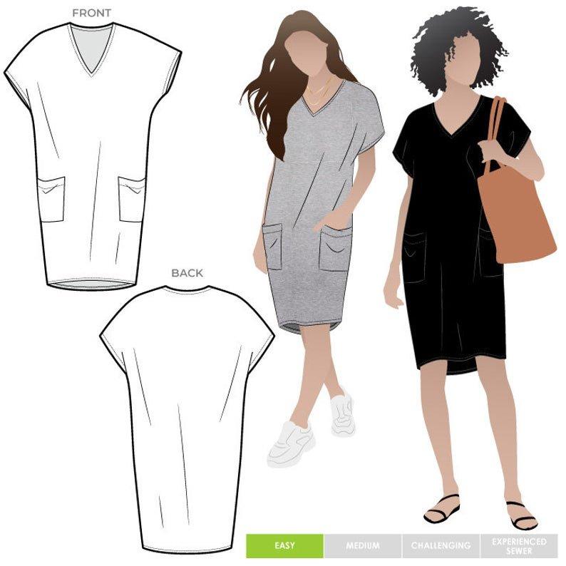 Style Arc Kitt Knit Dress Pattern - Sizes 4-16 or 18-30