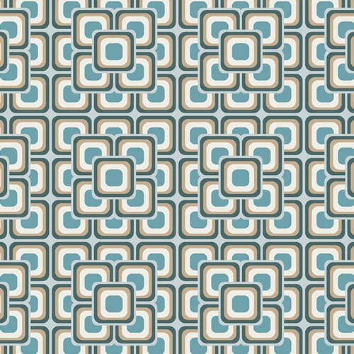 Art Gallery Fabrics Cotton - Grand Mosaic Blue Legacy