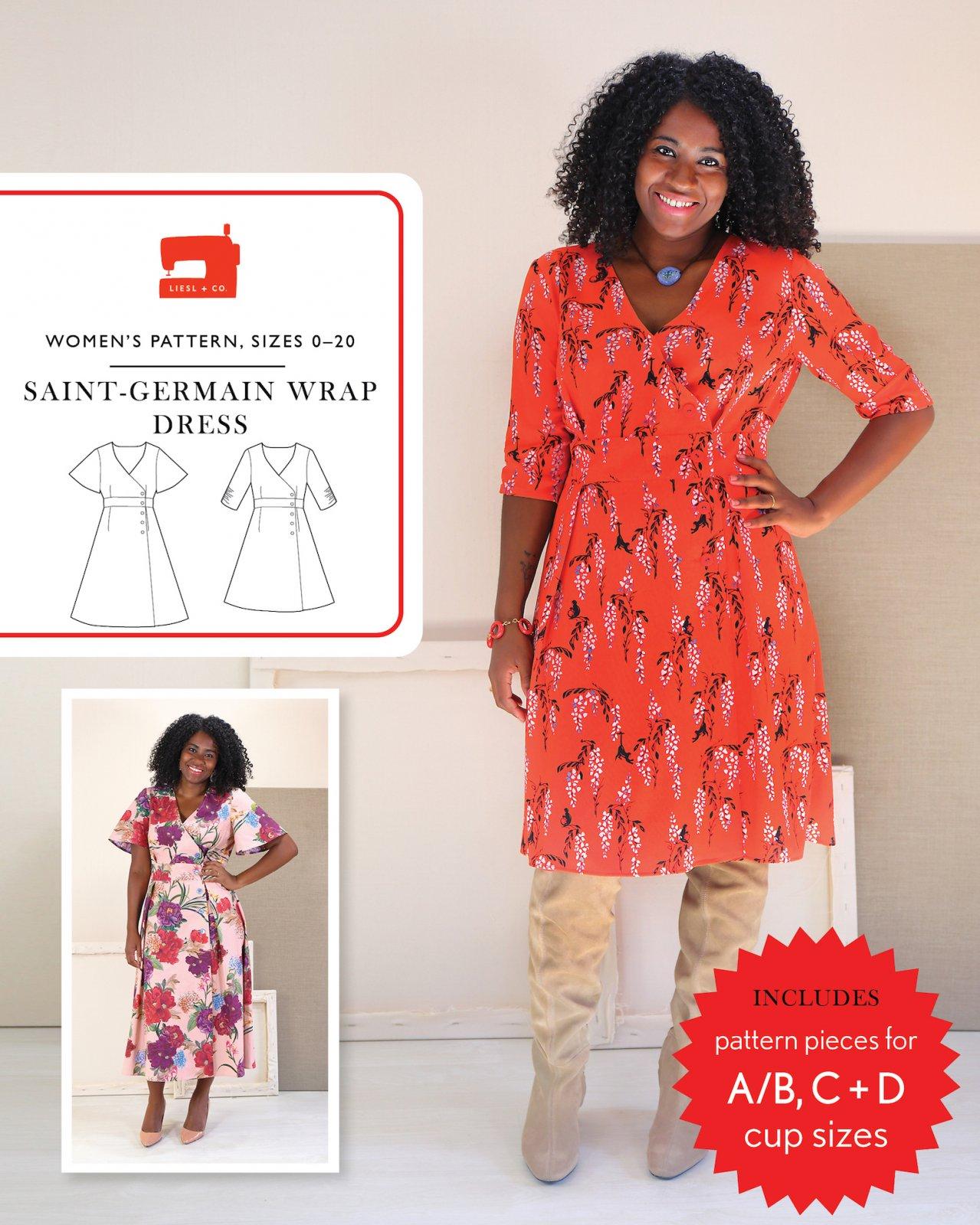 Liesl + Co. Saint-Germain Wrap Dress Pattern