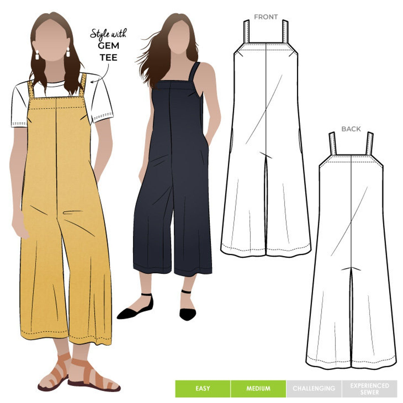 Style Arc Mildred Jumpsuit Pattern - Sizes 4-16 or 18-30