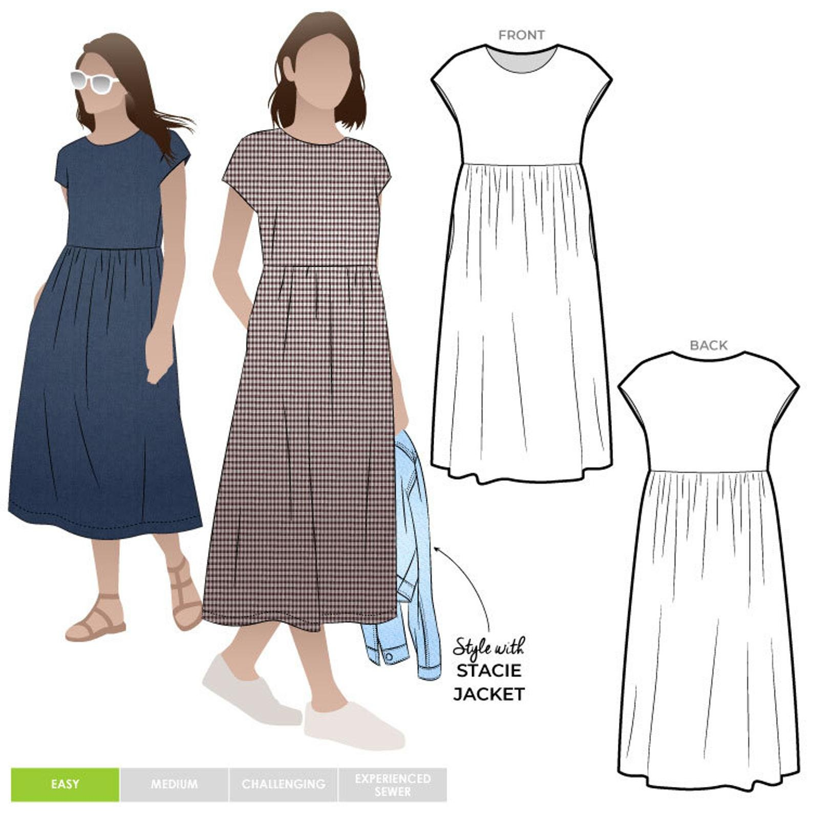 Style Arc Montana Midi Dress Pattern