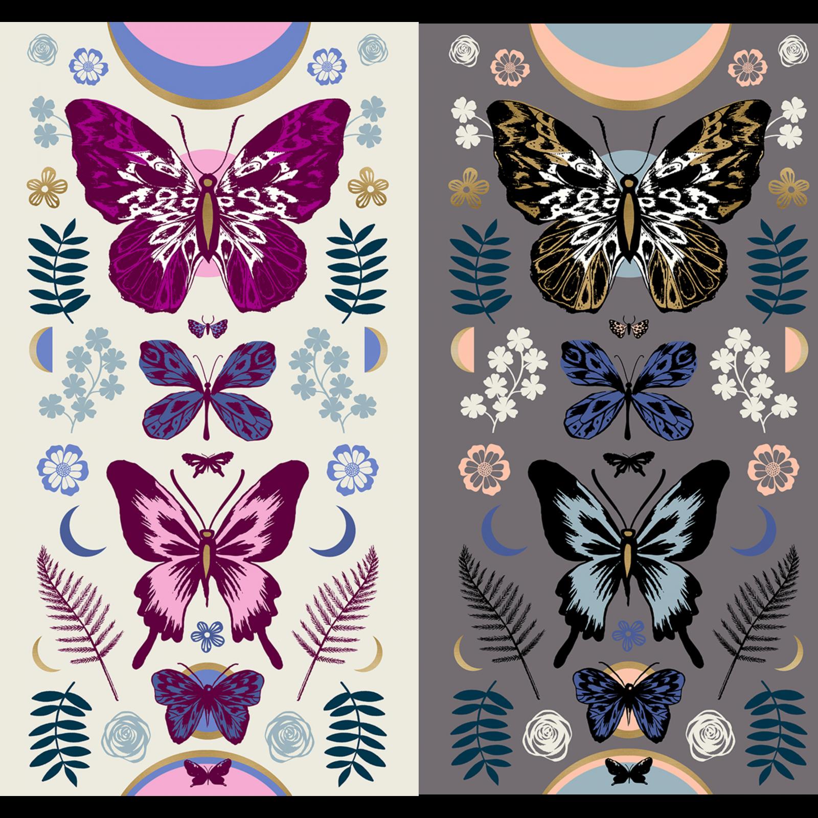 Tiger Fly Panel - Metallic Butterflies