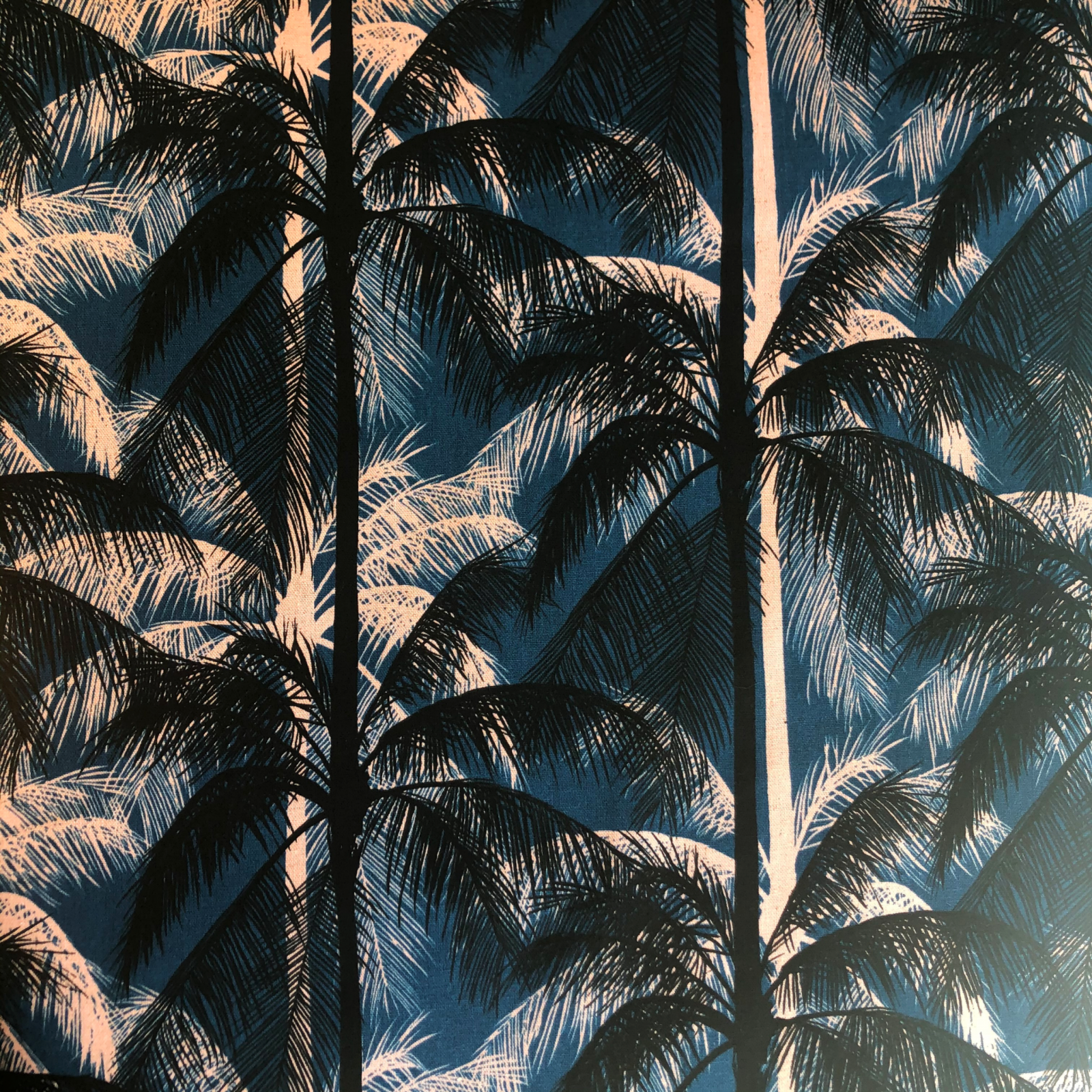 Poolside Palms Canvas - Blue