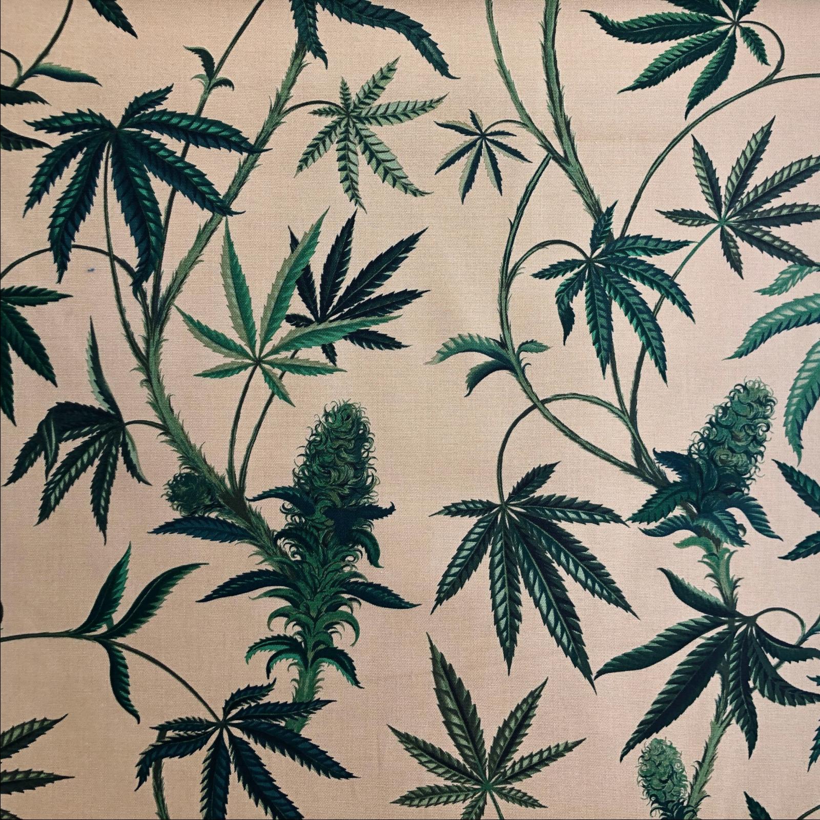 Alexander Henry Cannabis Cotton Canvas - Tan
