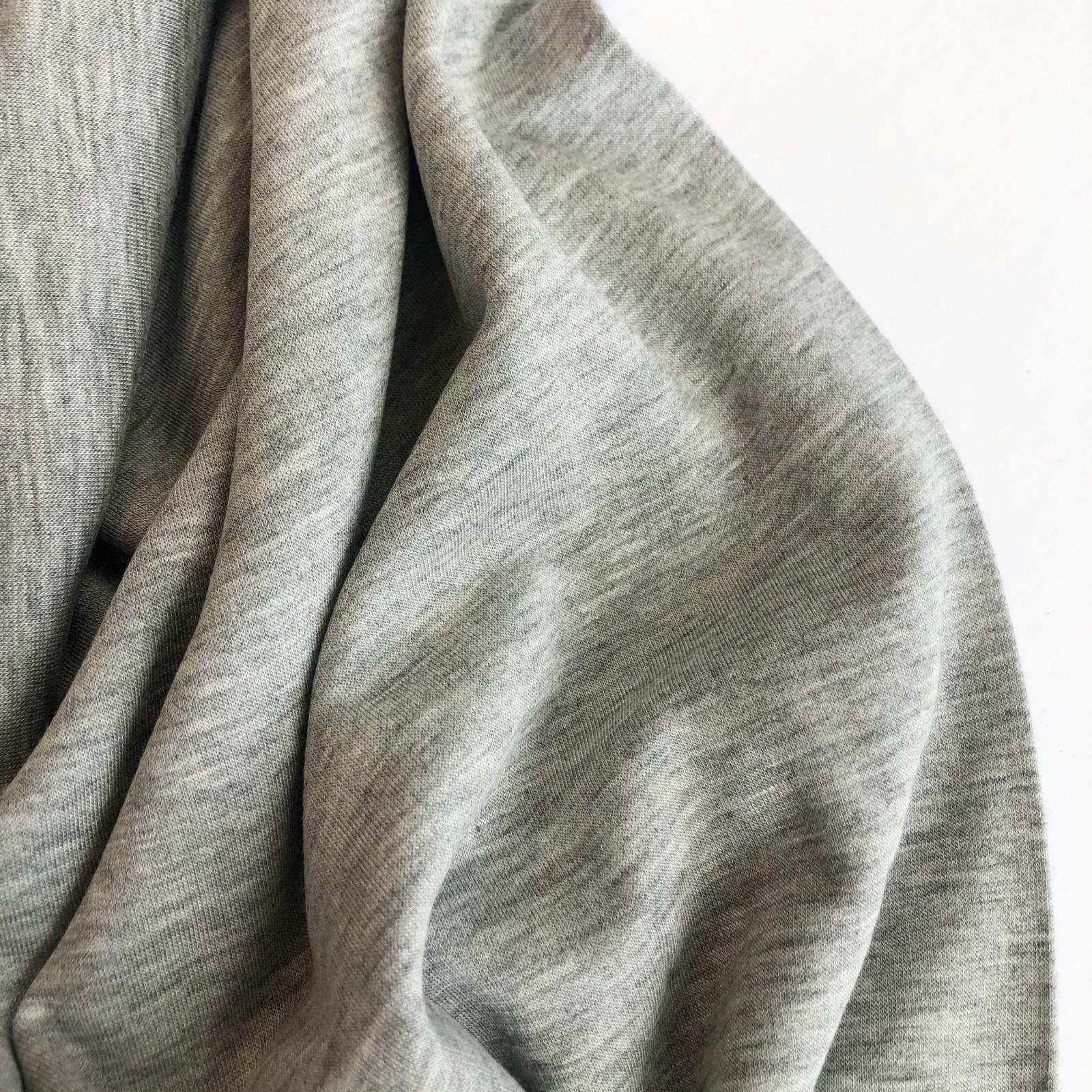 Rayon/Lycra 10 Oz Sweatshirt Fleece - Heather Grey