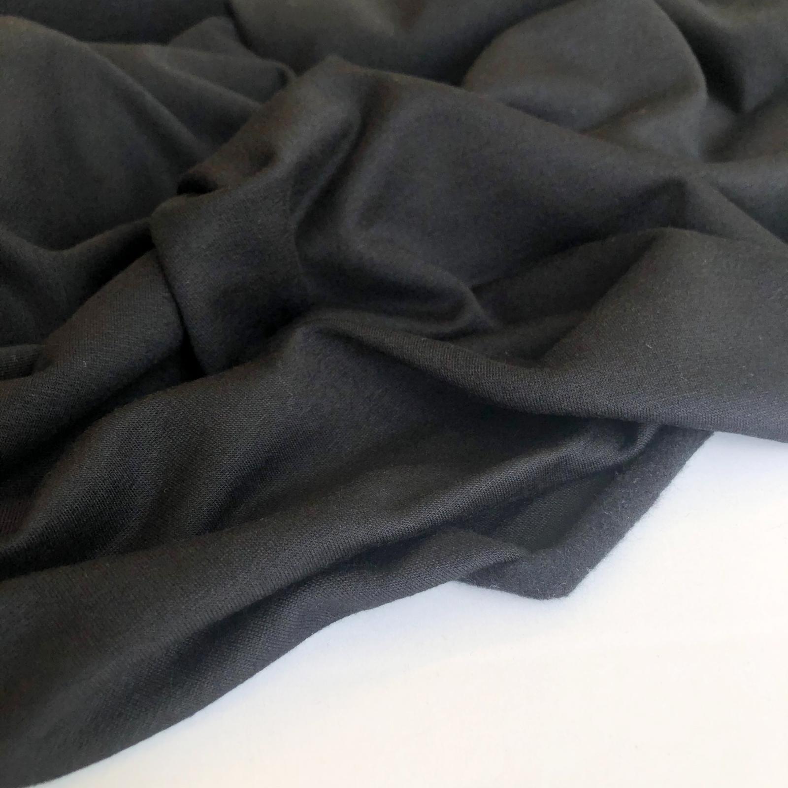 Rayon/Lycra 10 oz Sweatshirt Fleece - Black