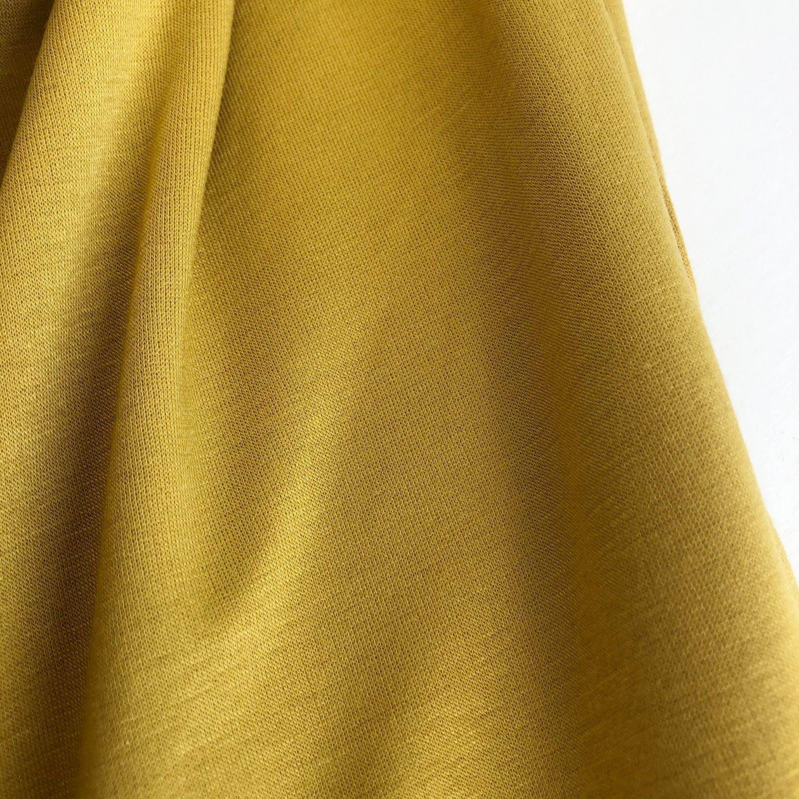 Rayon/Lycra 10 oz Sweatshirt Fleece - Gold