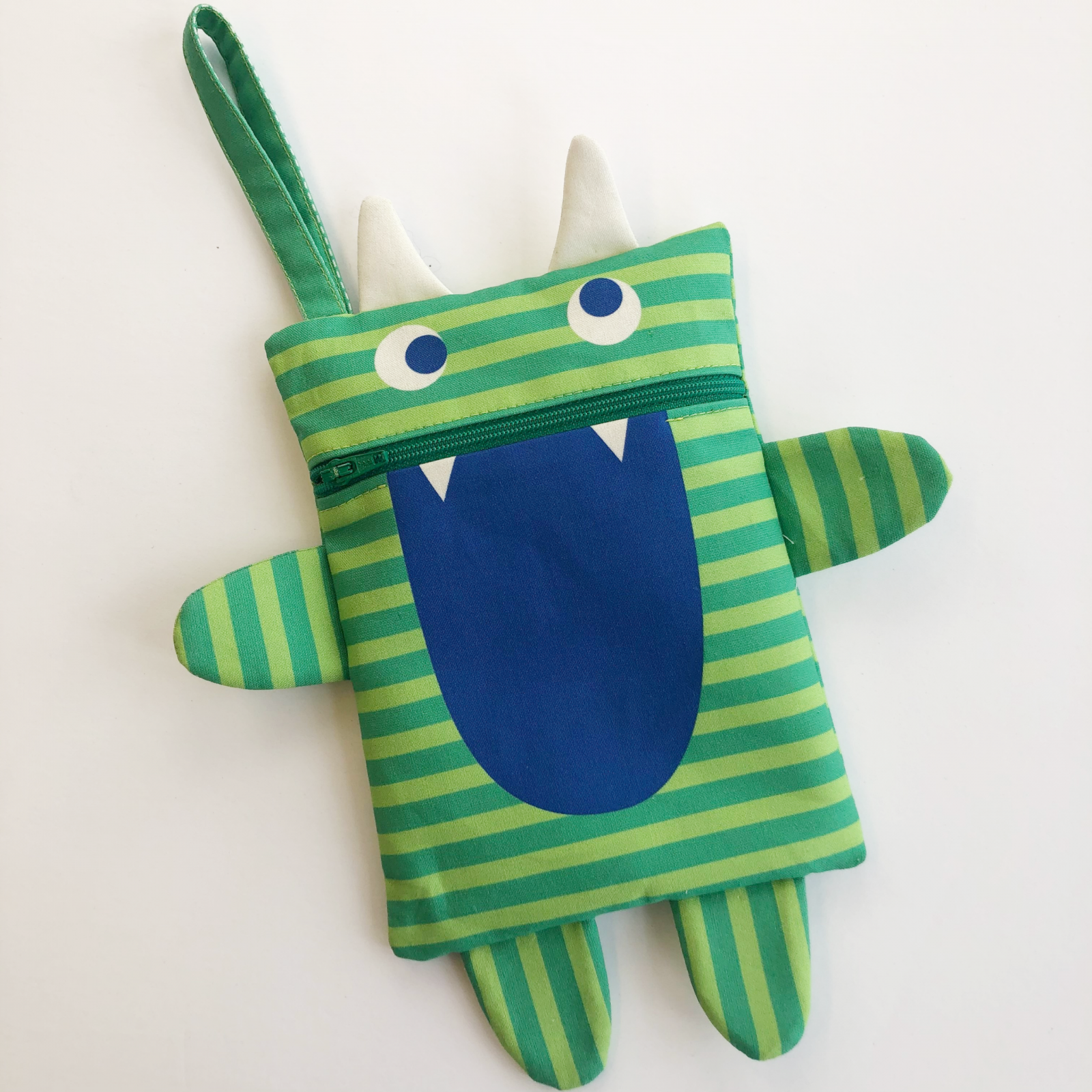 Monster Zipper Pouch Panel