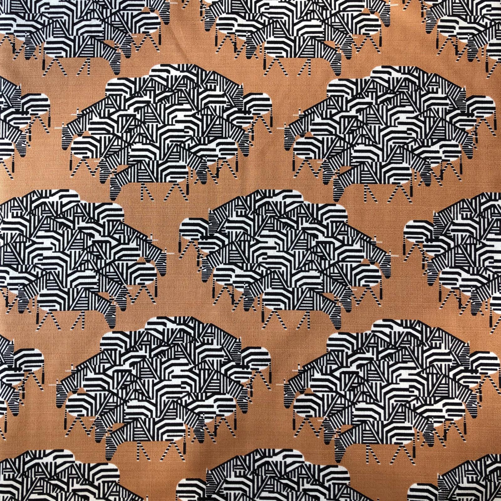Charley Harper Organic Barkcloth - Serengeti Spaghetti 58