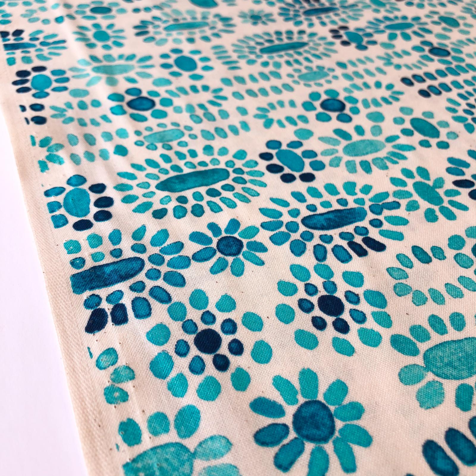Sienna Cabachon Unbleached Cotton - Turquoise