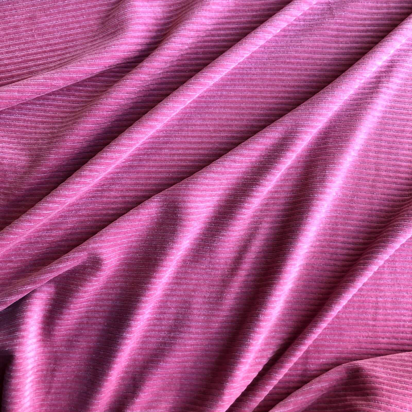 Velour Corduroy Stretch Knit - Dusty Rose 62
