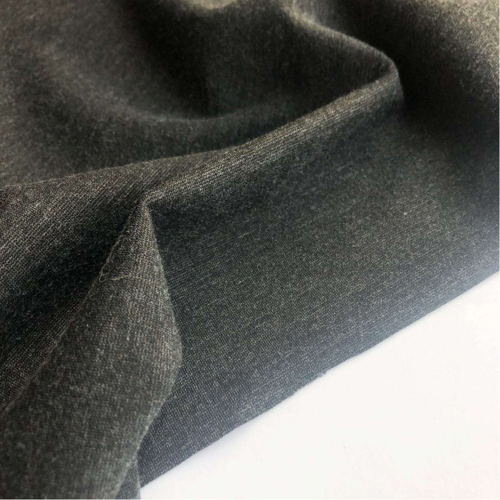 Remnant - Deadstock Charcoal Grey Ponte Knit 55 - 1 yard
