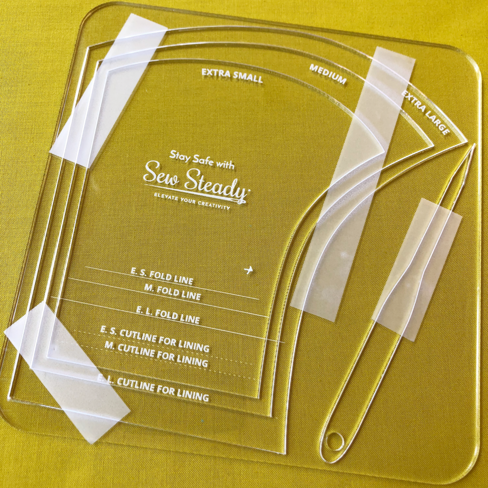 Sew Steady Face Mask Ruler - XS, M, XL