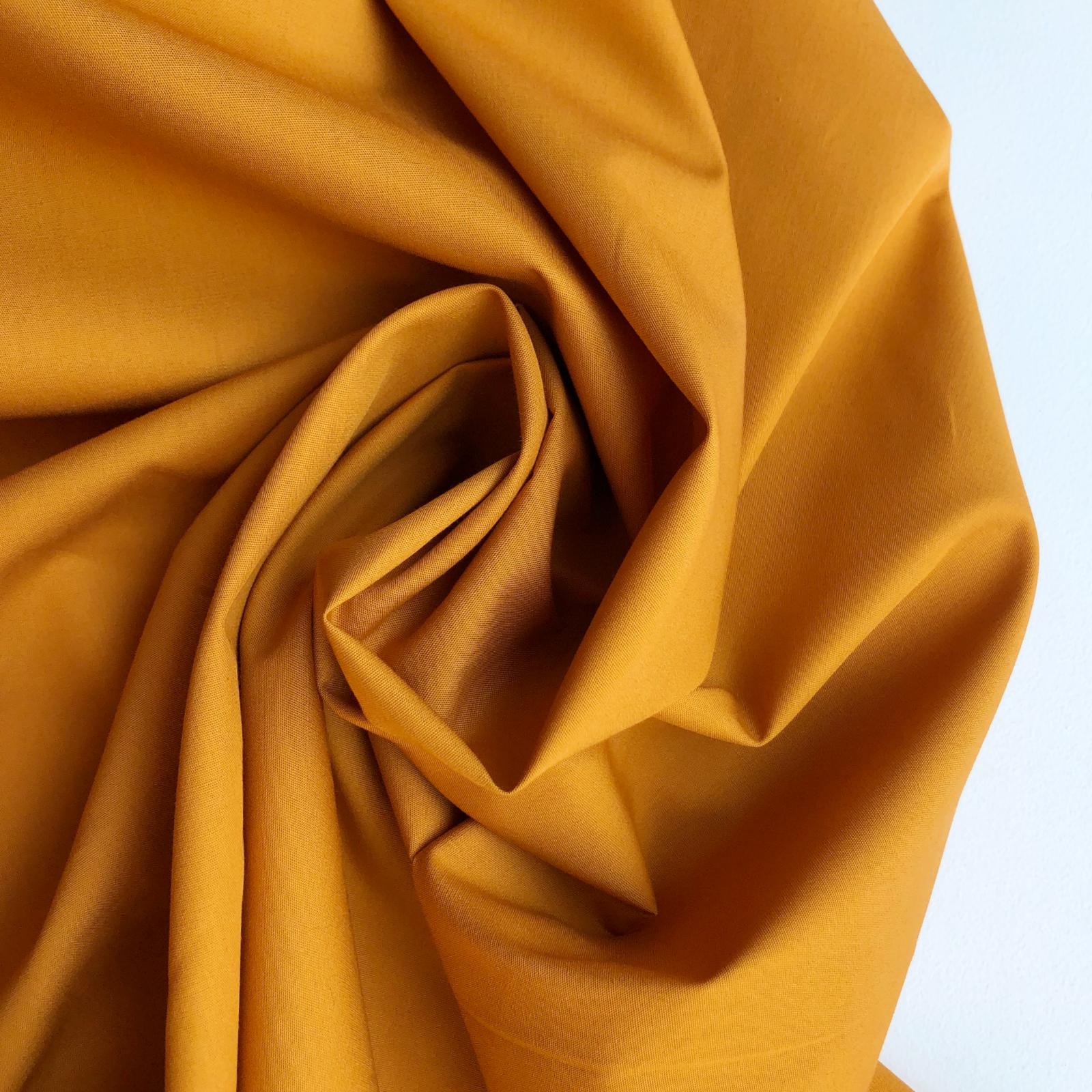 Art Gallery Fabrics Pure Solid Cotton -  Raw Gold