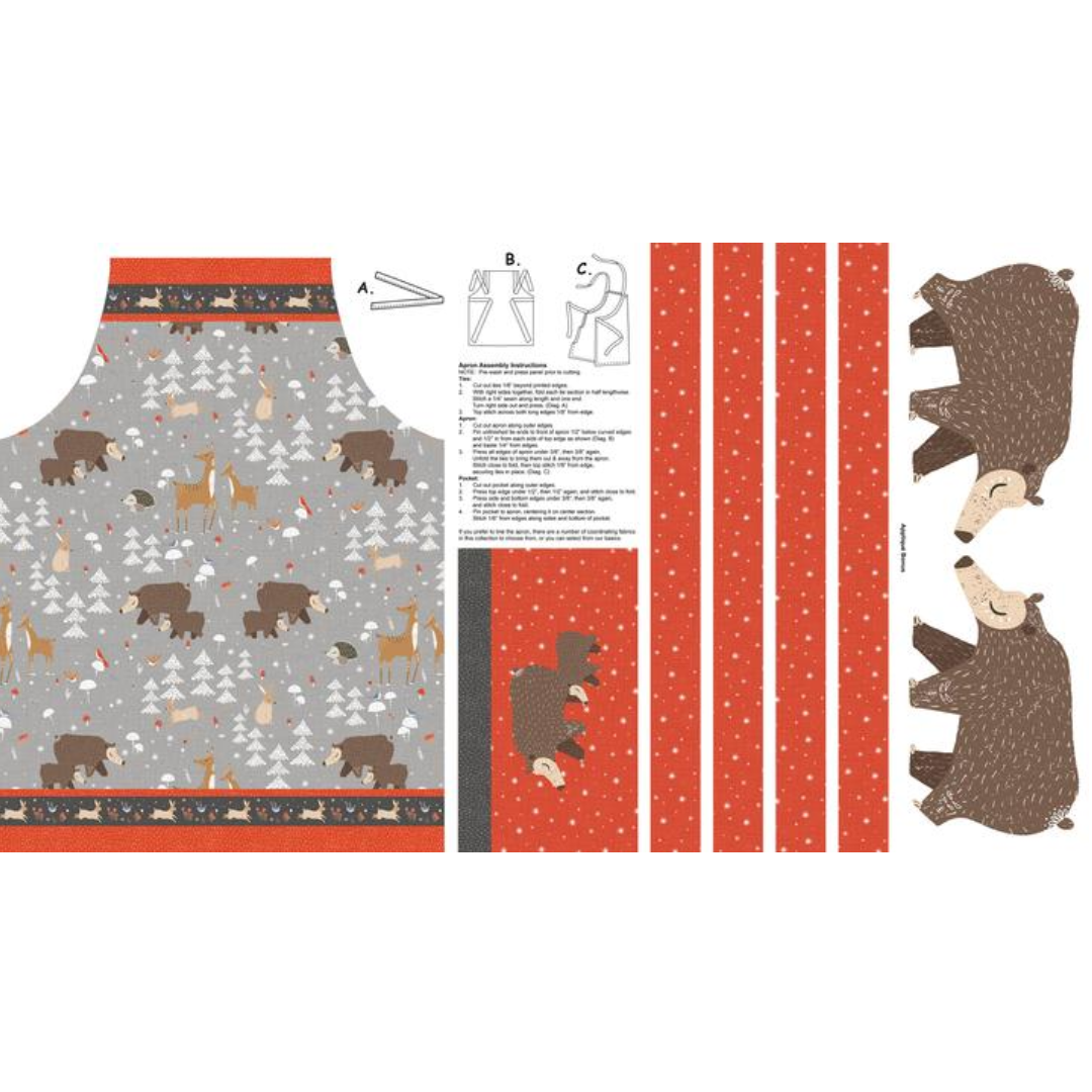 Winterland Kid Sized Apron Panel 24