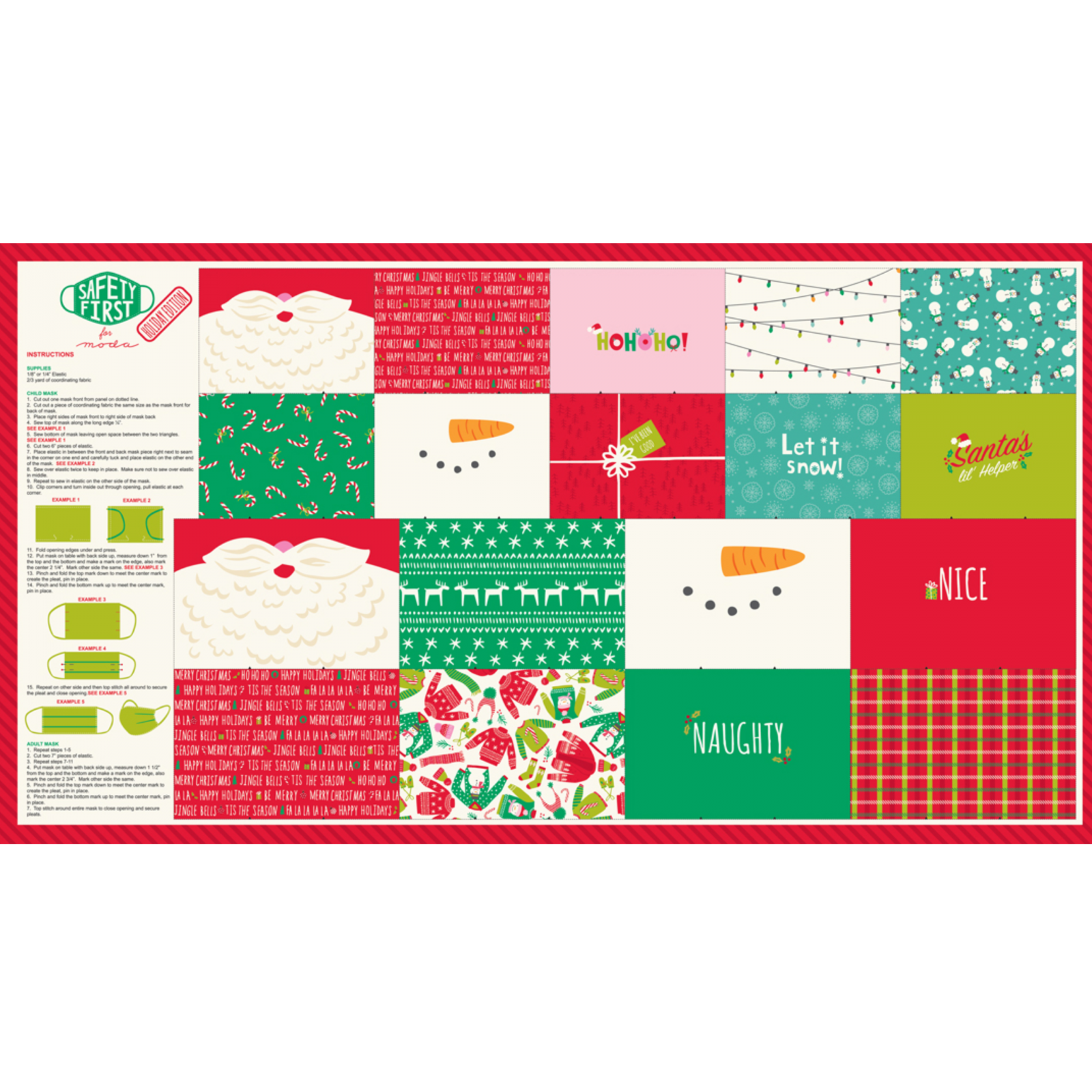 Safety First Holiday Mask Panel for Kids and Adults