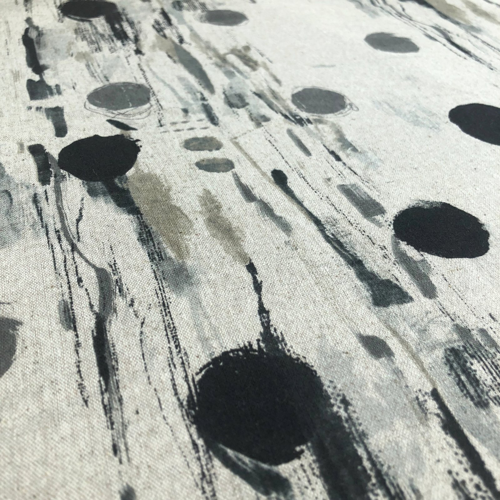 Flower Rain Cotton/Linen Canvas - Neutral