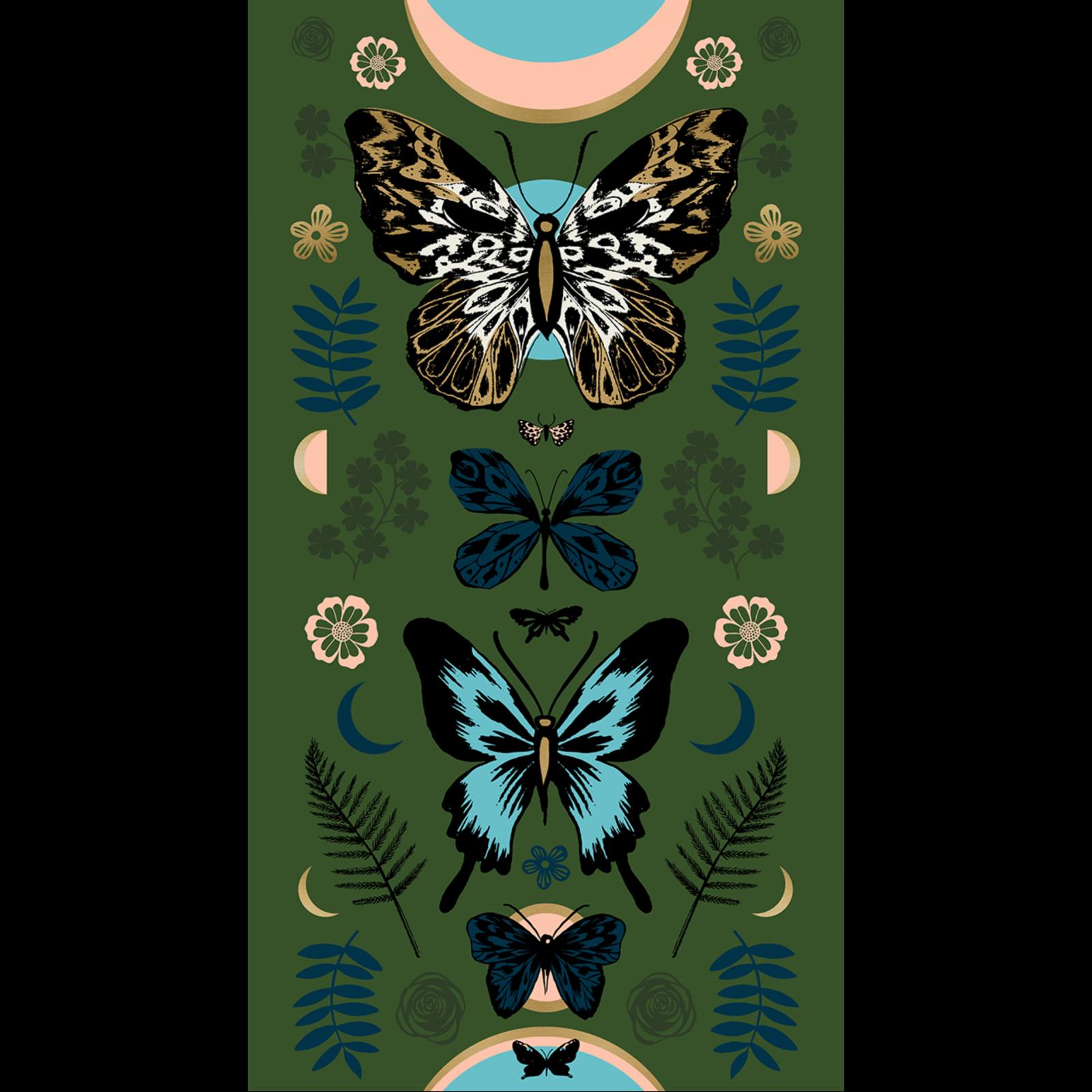 Tiger Fly Panel - Metallic Sarah Green