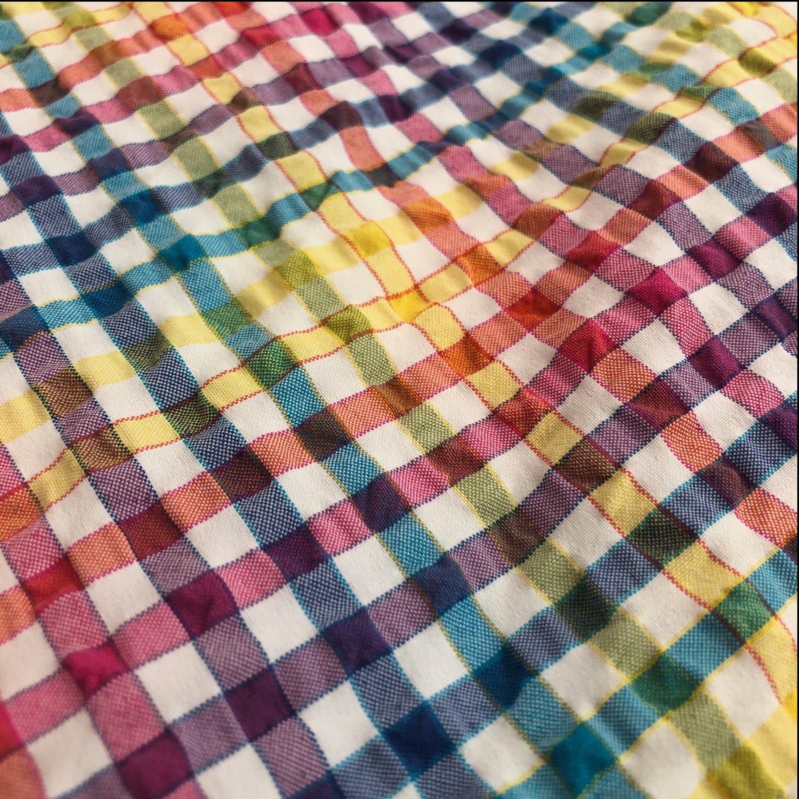 Italian Seersucker Cotton - Rainbow