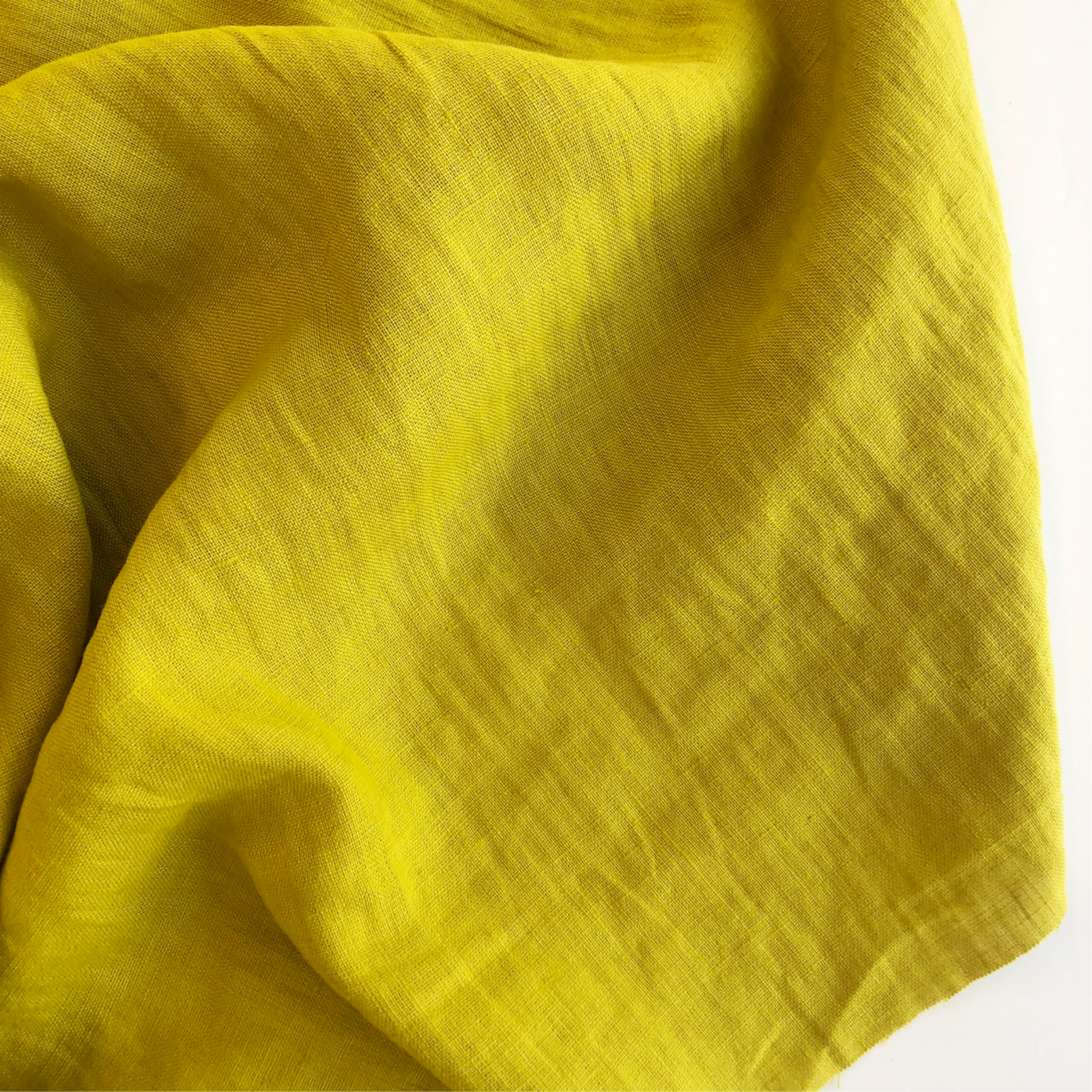 Merchant & Mills Laundered Linen - Chartreuse Yellow 56