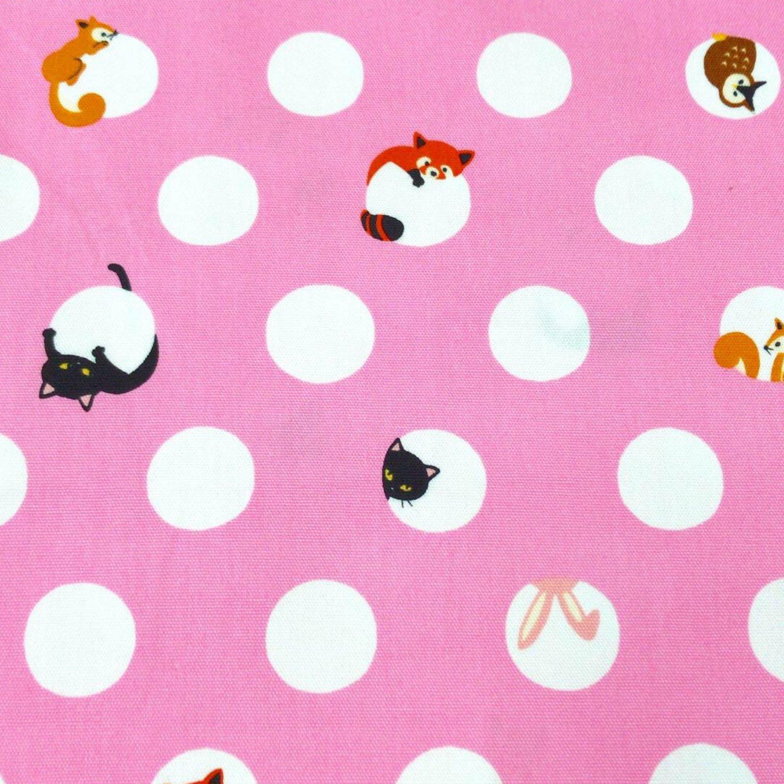 Animal Dots Cotton - Pink