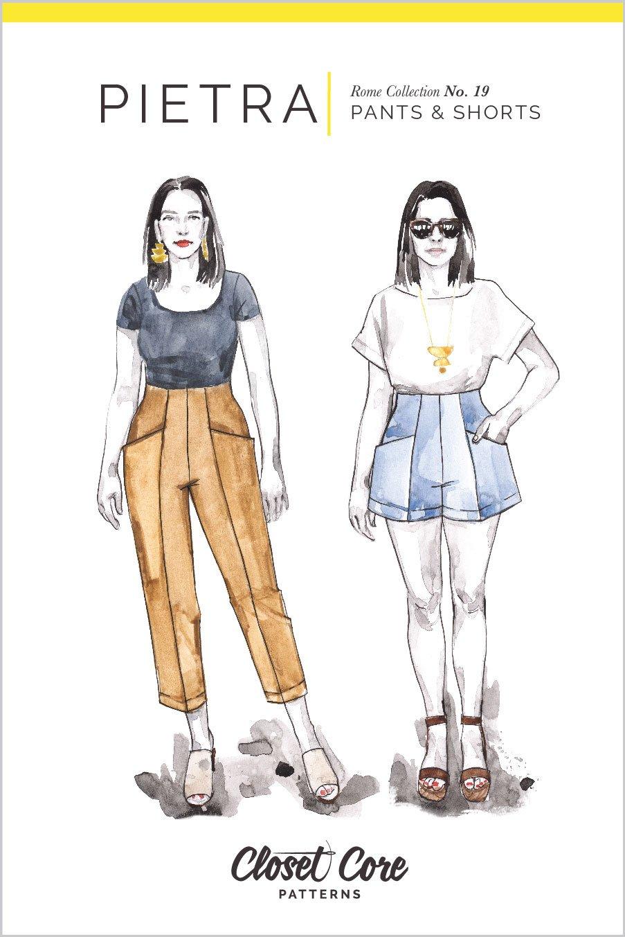 Closet Core Pietra Pants & Shorts Pattern 0-20