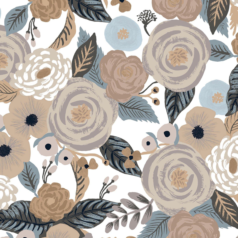 Rifle Paper Co. Garden Party Cotton/Linen Canvas - Juliet Rose - Multi 6.4oz
