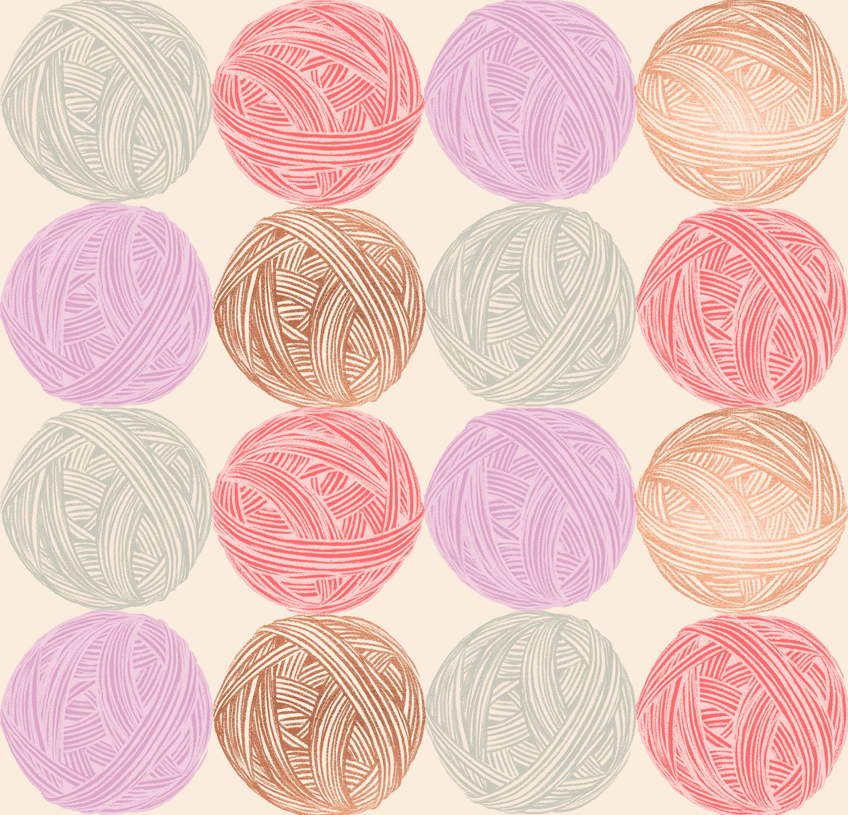 Ruby Star Society Purl Cotton/Linen Canvas - Wound Up - Natural Metallic