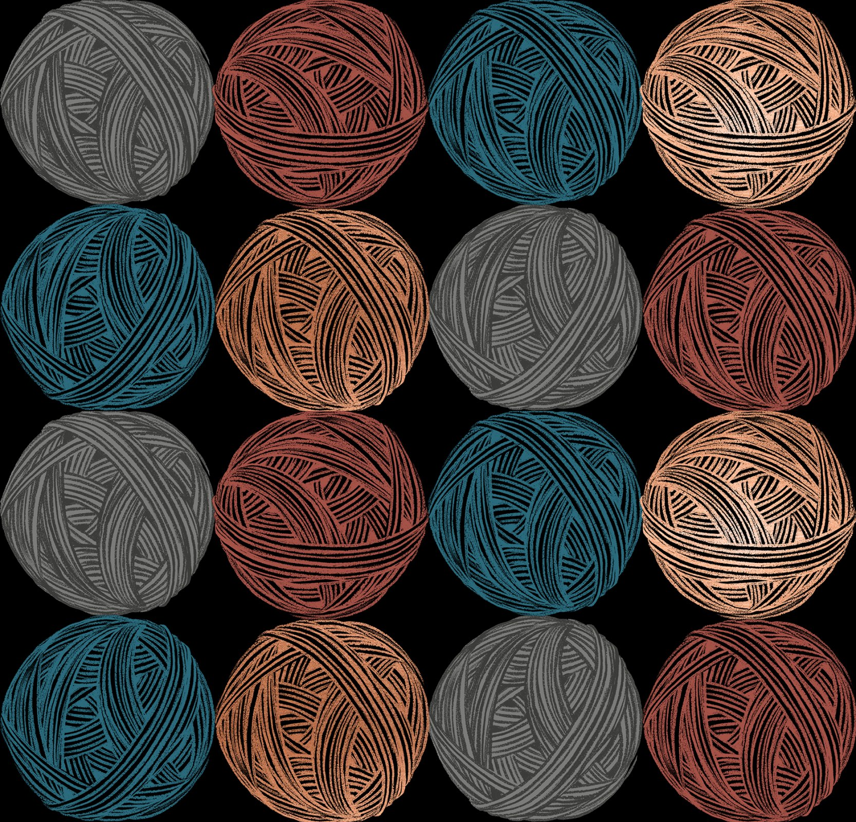 Ruby Star Society Purl Cotton/Linen Canvas - Wound Up - Black Metallic